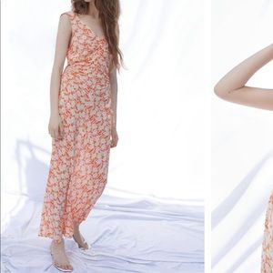 Urban Outfitters Cinched Side Cutout Maxi Dress